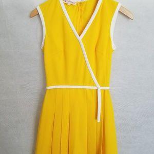 Women's 1960s Kay Windsor Yellow w/White Trim Dres